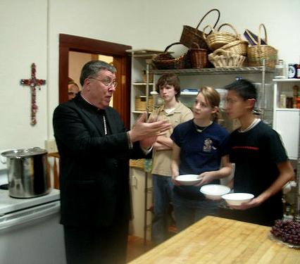 Bishop Robert Baker, Bishop of Birmingham (AL), visits the GCW