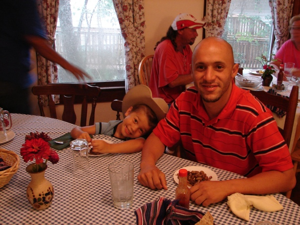Riley and Youssef at the first Cafe of Fall 09