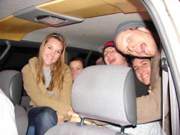 A tight fit on the way to Breakfast Brigade stops
