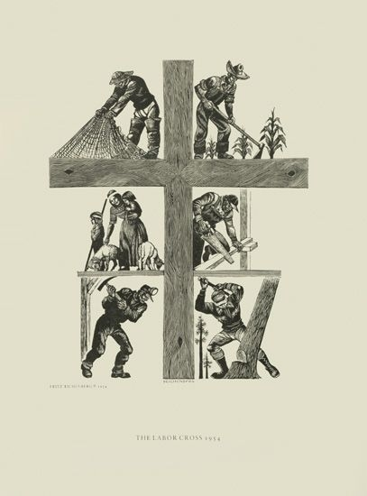 The Labor Cross by Fritz Eichenberg