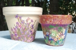 handpainted flower pots