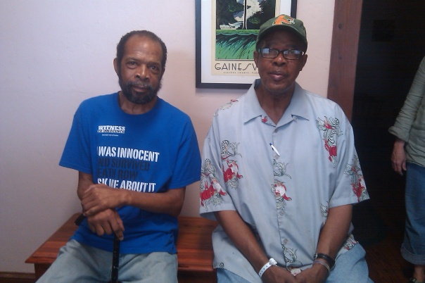 David Keaton, first death row inmate exonerated in Florida (on left) and his cousin Alphonso.